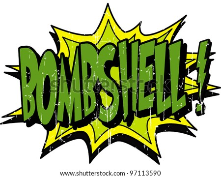 bombshell - stock vector