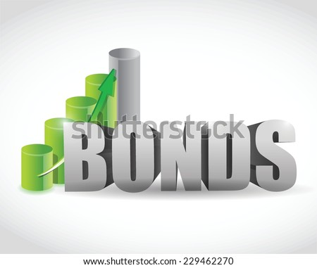 bonds sign business graph illustration design over a white background - stock vector