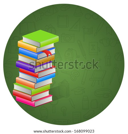Book and circle icon background