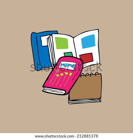 Book and Photo album for memories - stock vector