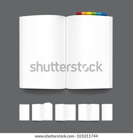 book blank page template for design.Vector - stock vector
