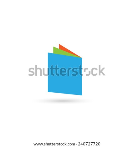 Book colored pages icon vector design - stock vector