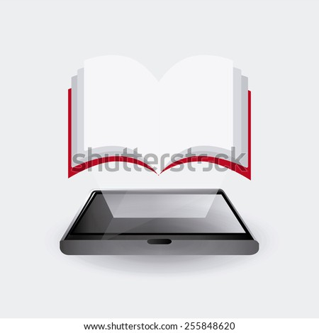 book concept design, vector illustration eps10 graphic  - stock vector