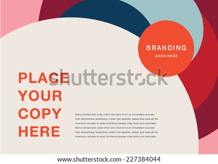Book cover/Background design/Graphics/Layout/Content page - stock vector
