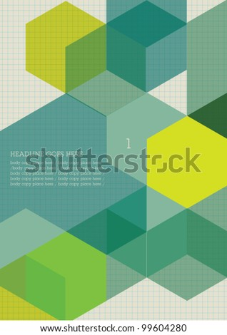 Book cover/Background design/Graphics/Layout/Content page/ - stock vector