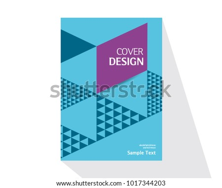 book cover design annual report layout stock vector royalty free