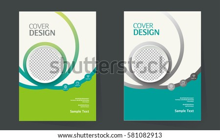 book cover design layout brochure design stock vector 581082913