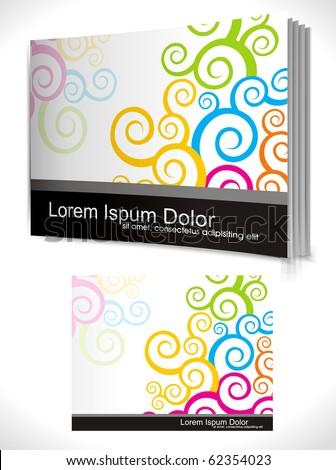 book cover design template. Vector Illustration - stock vector