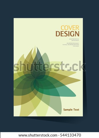 book cover design vector template in A4 size. Annual report. Abstract Brochure design. Simple pattern. Flyer promotion. Presentation cover. Vector illustration.