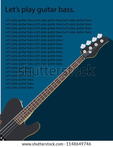 Book Cover Guitar Bass Vector