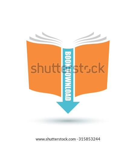 Book download icon - stock vector