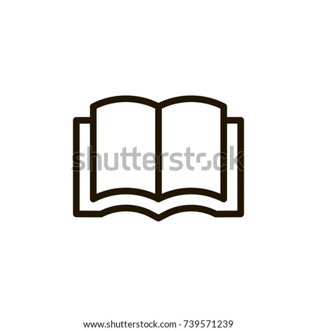 Book Flat Icon Single High Quality Stock Vector 739571239 Shutterstock