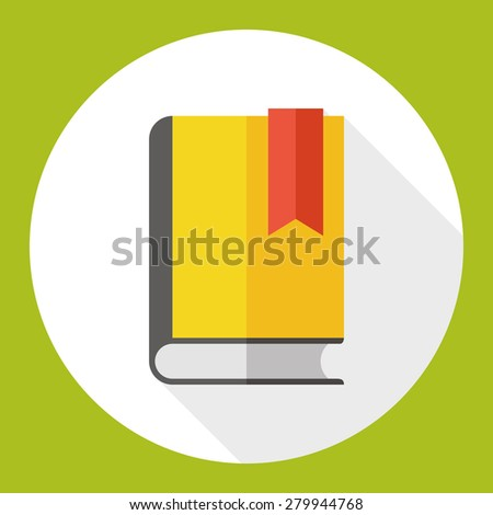 book flat icon with long shadow - stock vector