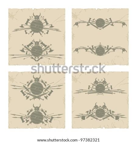 Book frames. The Vikings, vector