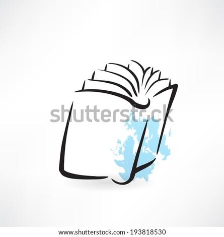 book grunge icon - stock vector