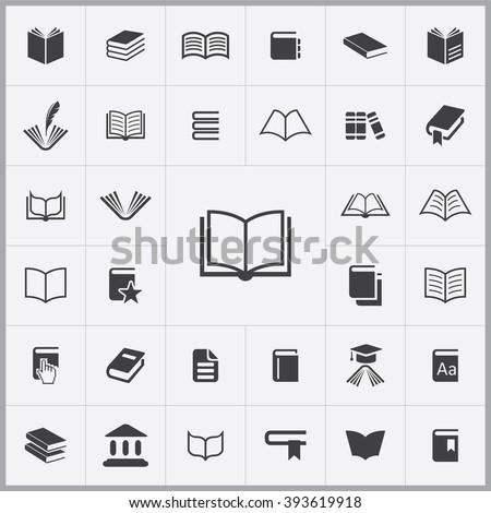 book Icon, book Icon Vector, book Icon Art, book Icon eps, book Icon Image, book Icon logo, book Icon Sign, book icon Flat, book Icon design, book icon app, book icon UI, book icon web, book icon gray - stock vector
