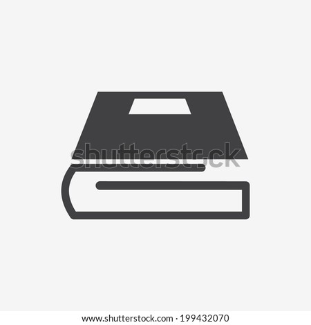 Book icon for web. - stock vector