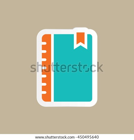 book icon in flat style - stock vector