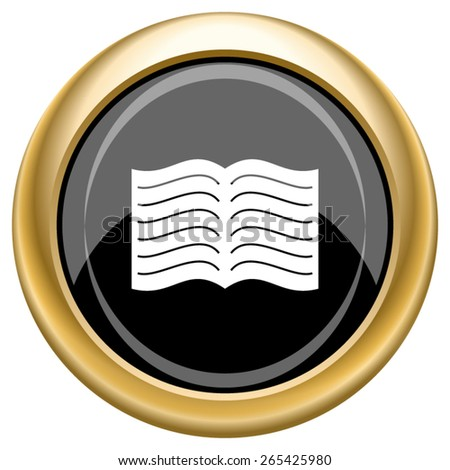 Book icon. Internet button on white  background. EPS10 Vector.  - stock vector