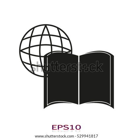 book icon, vector illustration, eps10,