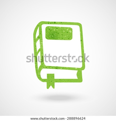 book icon with texture vector illustration. - stock vector