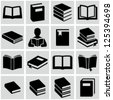 Book icons - stock photo