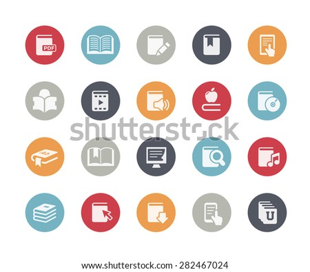 Book Icons // Classics Series - stock vector
