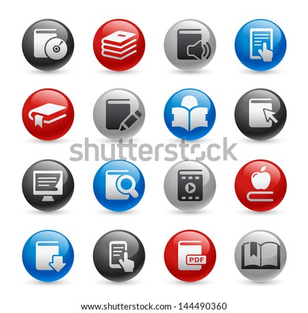 Book Icons // Gel Pro Series - stock vector