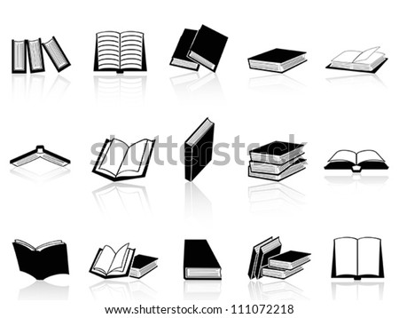 book icons set - stock vector