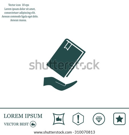 book in hand, vector illustration