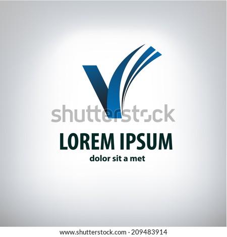book logo - stock vector
