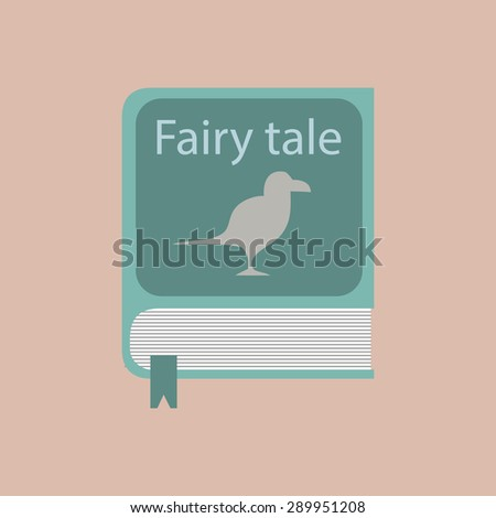 book of fairy tales in the flat format. Stock vector - stock vector