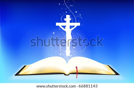 Book of the Bible in the expanded form. - stock vector