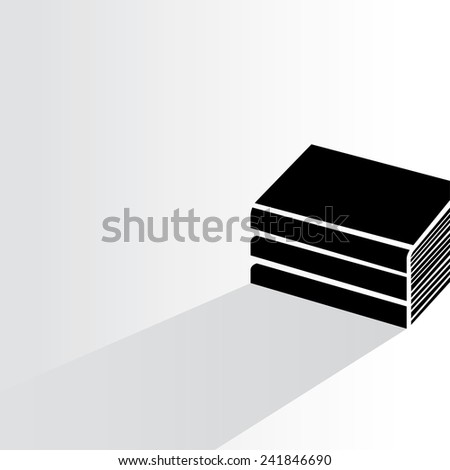 book on white background, flat and shadow theme - stock vector