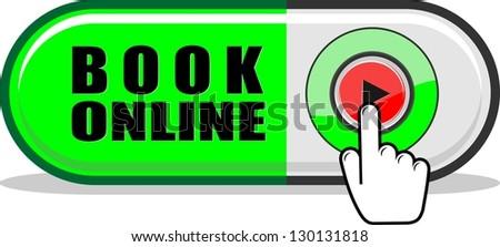 Book Online icon - stock vector