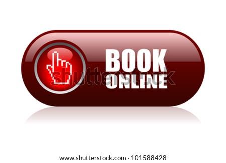 Book online vector illustration - stock vector