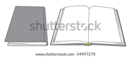 Book Open and close 2 - stock vector
