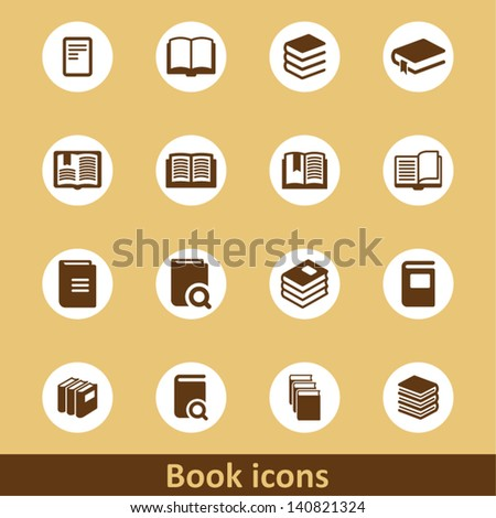 Book pictograms - stock vector