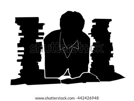 Book, reader,  icon isolated on white background, vector - stock vector