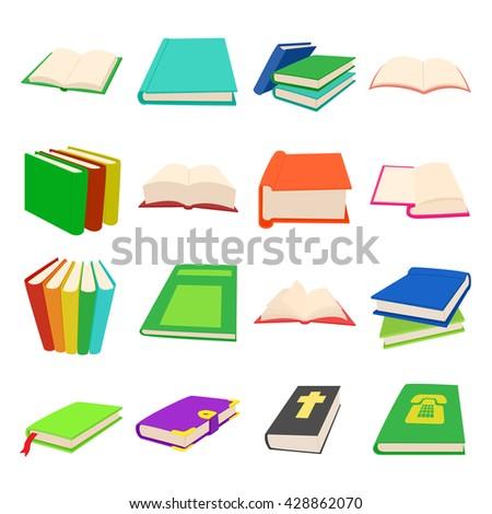 Book set - stock vector