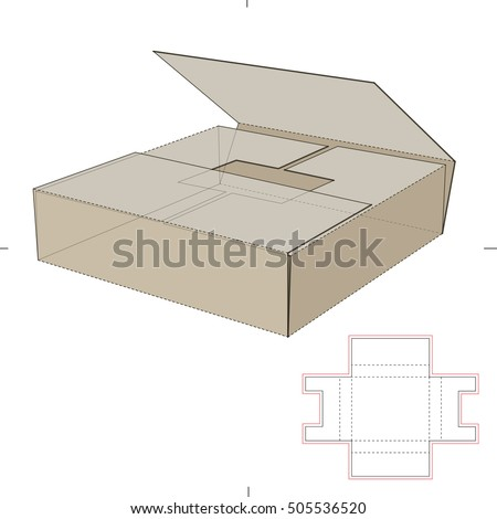 Book Shipper Package Die Cut Template Stock Vector (Royalty Free ...