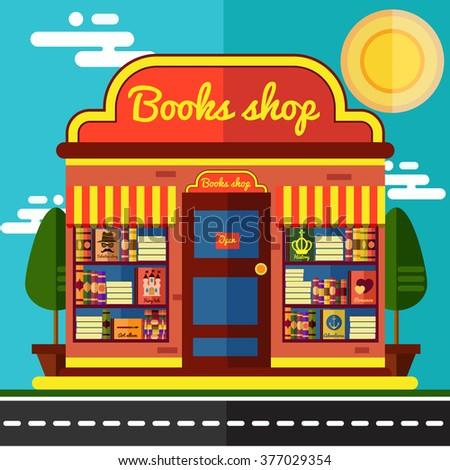Book shop.Flat illustration.