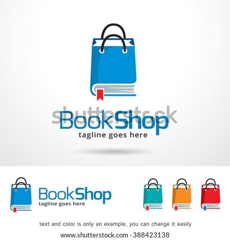 Book Shop Logo Template Design Vector - stock vector