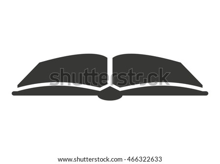 book text open icon vector isolated graphic