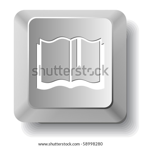 Book. Vector computer key. - stock vector