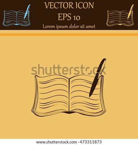 Book vector icon