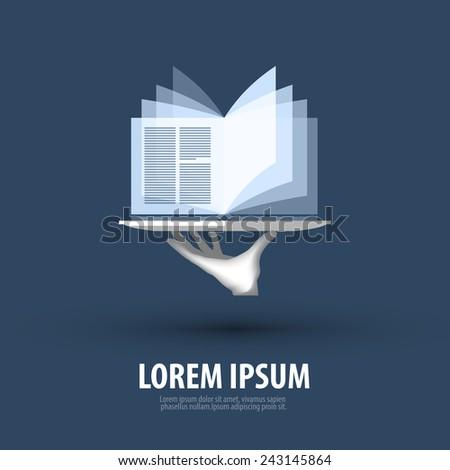 book vector logo design template. best seller or bookstore icon. - stock vector