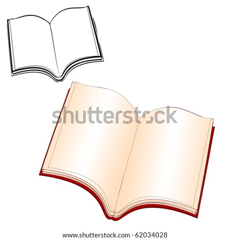 book was opened - stock vector