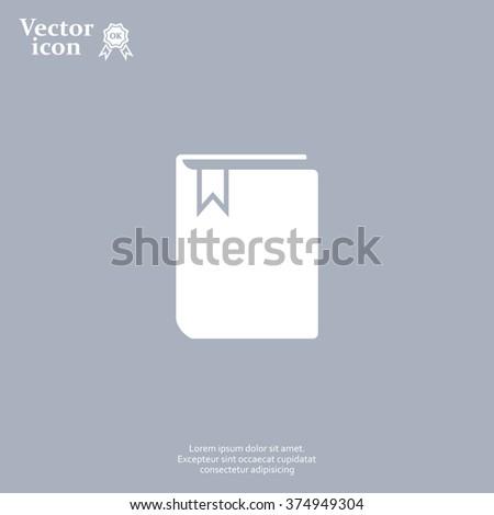 book web icon. vector design - stock vector