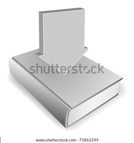 book with arrow concept - stock vector